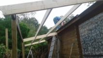 aanbouw tuinhuis