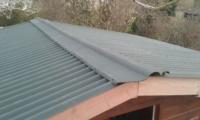 nieuw dak tuinhuis